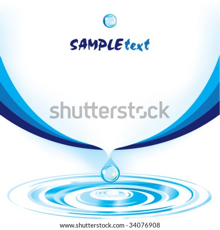 Vector water drop design template series - stock vector