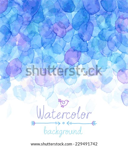 Vector Watercolor background. - stock vector