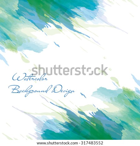 vector watercolor background design - stock vector