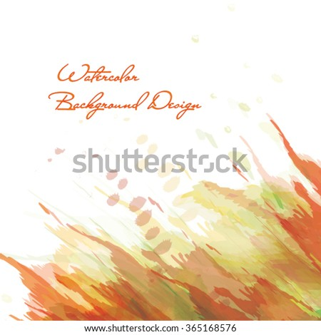 vector watercolor colorful background design - stock vector
