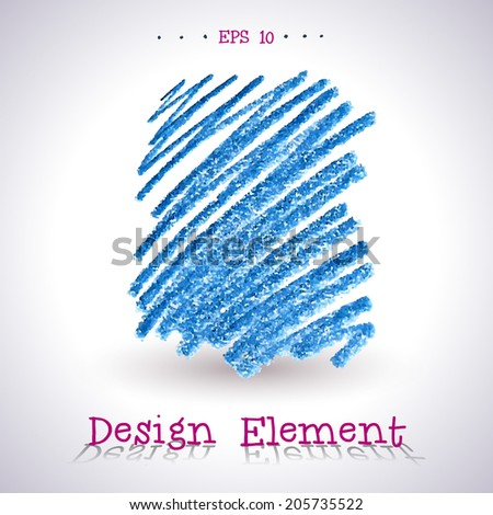 Vector watercolor pencil stain. Element for your design.