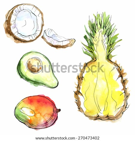 acceptability of avocado and young coconut A young coconut, ready to drink coconut water is the clear liquid inside coconuts (which are fruits of the coconut palm) in early development, it serves as a suspension for the endosperm of the coconut during the nuclear phase of development.