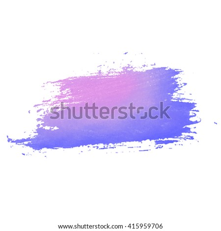 Vector watercolor splashes drops and blot. Transparent shades and pure colors. watercolor splatter. Cyan, magenta, blue, purple, lilac shades. - stock vector