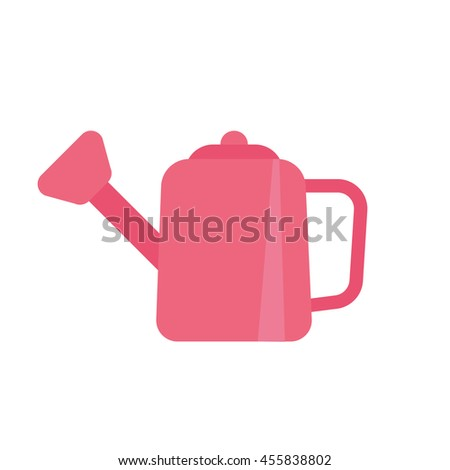 Vector watering can isolated icon
