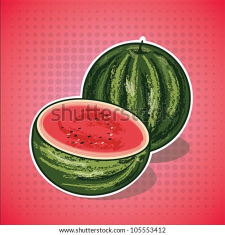 Vector watermelon - stock vector