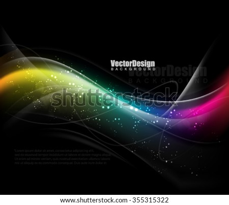 Vector Wave Abstract Background - stock vector