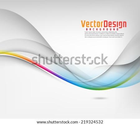 Vector Wave Elements Background - stock vector