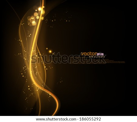 Vector Wave Glow Background - stock vector