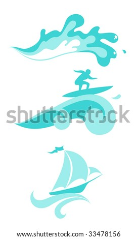 vector wave illustration
