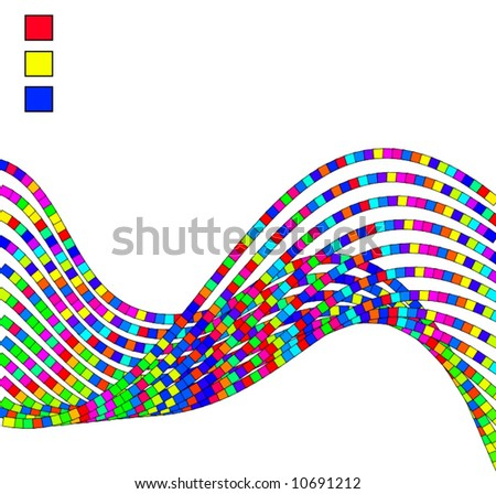 Vector Wave Of Cubes Design Background