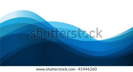 Vector waves - stock vector