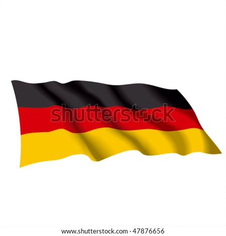 Vector waving color flag of Germany. Can be used for design as a background or texture. - stock vector