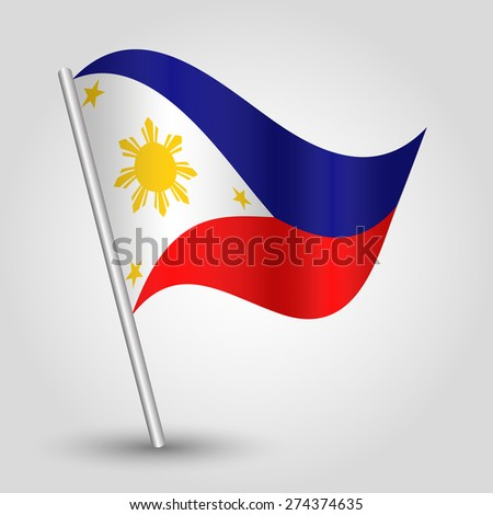 Vector Waving Simple Triangle Filipino Flag Vector de stock274374635 ...