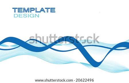vector wavy curves design template