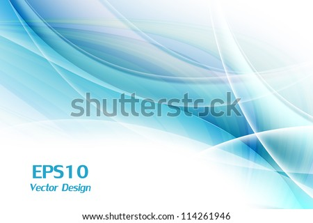 vector wavy lines with copy space. eps10 - stock vector