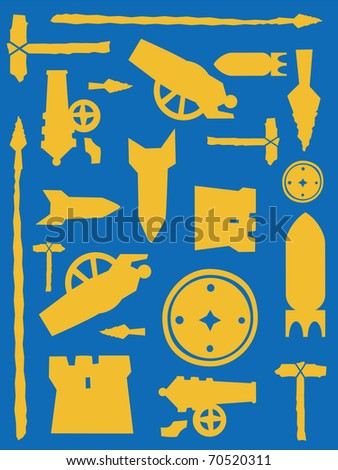 Vector weapon pattern - stock vector