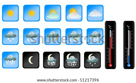 vector weather icon. - stock vector