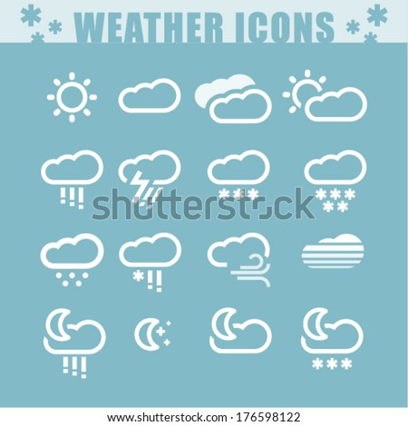 Vector weather icons. Set #1 - stock vector