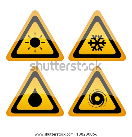 Vector weathers icons - stock vector