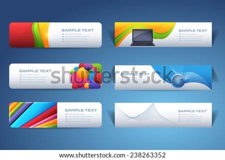 Vector Web Banner Design Set - stock vector
