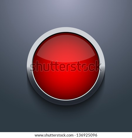 Vector web button design on gray background. Eps10 - stock vector