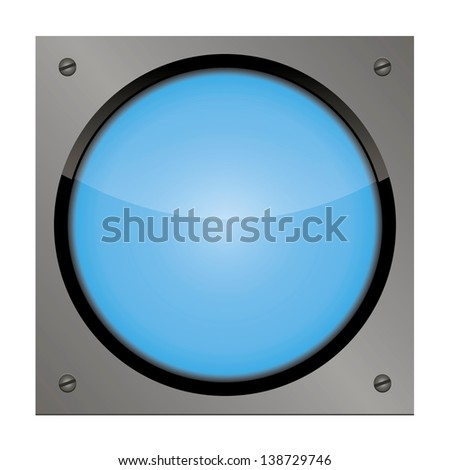 vector web button on a steel plate