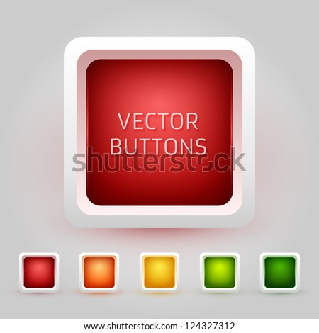 Vector Web Buttons Pack - stock vector