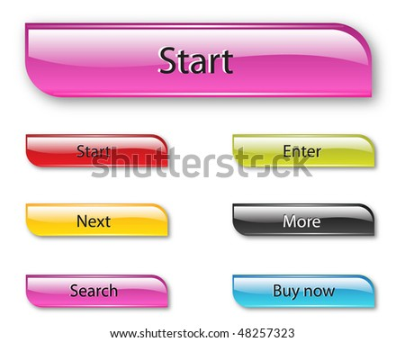 Vector Web 2.0 buttons set for  business site.