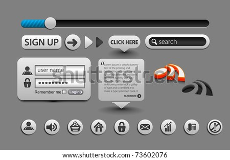 Vector web design layout element design. - stock vector