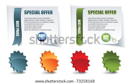 vector web elements for sale whit stars - stock vector