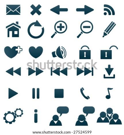 Vector web icons set - stock vector