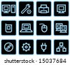 Vector web icons set â?? Hardware - stock vector