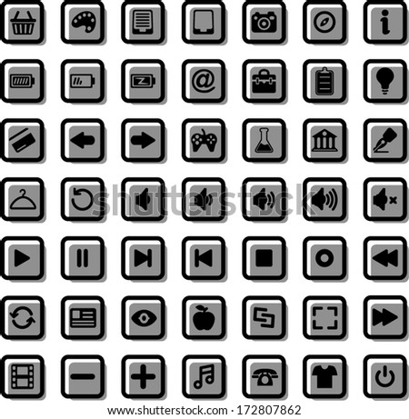 vector web icons set 2 - Separate layers for easy editing