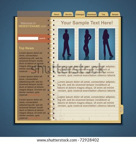 Vector Web Site Template - stock vector