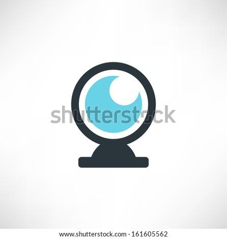 Vector webcam icon - stock vector