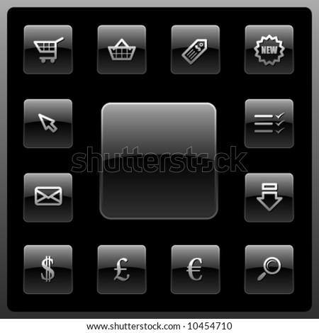 Vector webshop icon set - stock vector