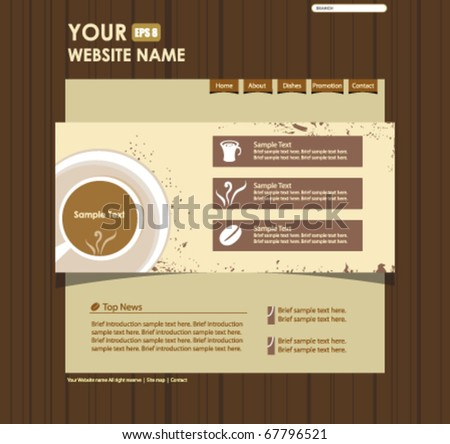 vector website design template - stock vector