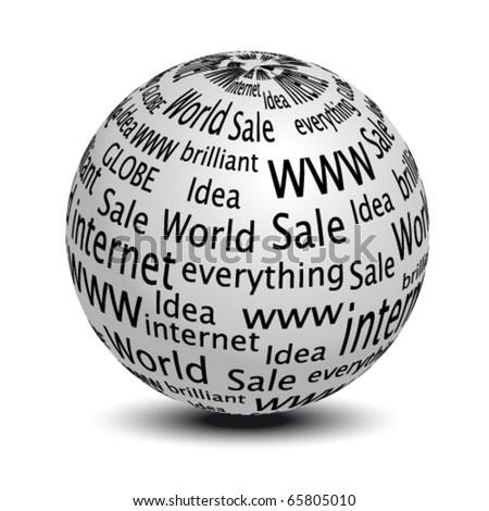 Vector website globe - stock vector