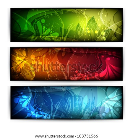 vector website headers - stock vector