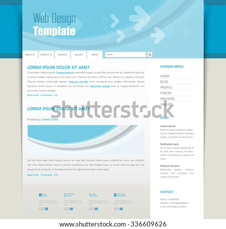 Vector Website Template Design Eps 10 - stock vector