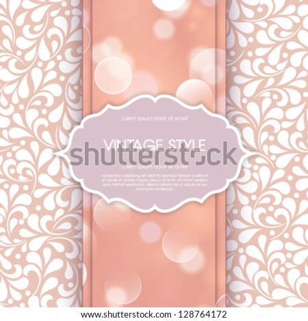 Vector wedding card or invitation. - stock vector
