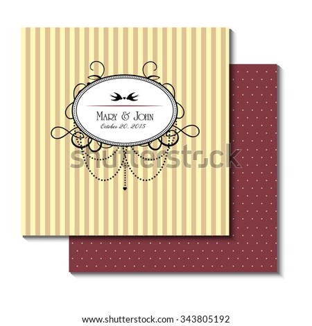 Vector wedding card or invitation - stock vector
