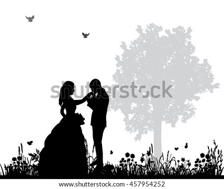 Bride And Groom Silhouette Stock Images Royalty Free Images Amp Vectors