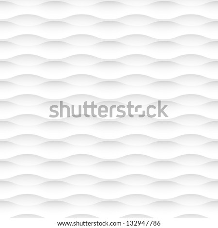 Vector white background of abstract waves. Seamless pattern - stock vector