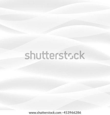 Vector white background of abstract waves. Used meshes and transparency layers - stock vector