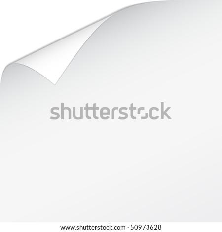 vector white bended paper - stock vector