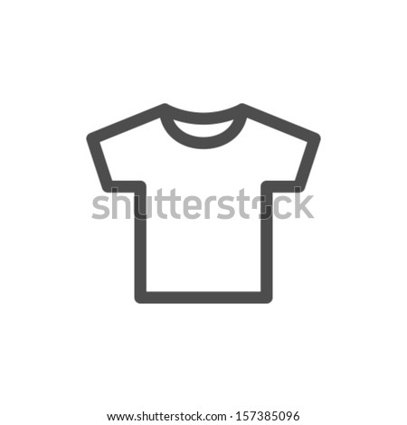 Vector White Blank Tshirt Icon Symbol - stock vector