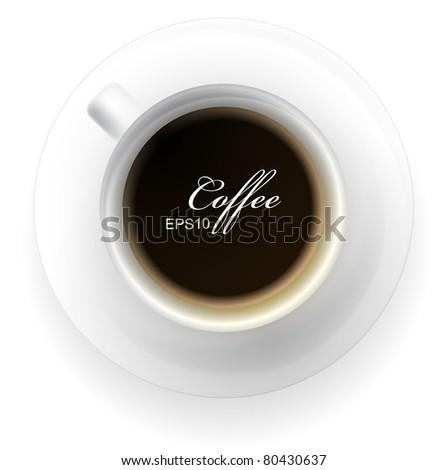 Vector white coffee cup - stock vector