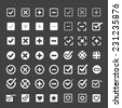 Vector white confirm icons set - stock vector