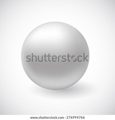 Vector white 3D sphere - stock vector